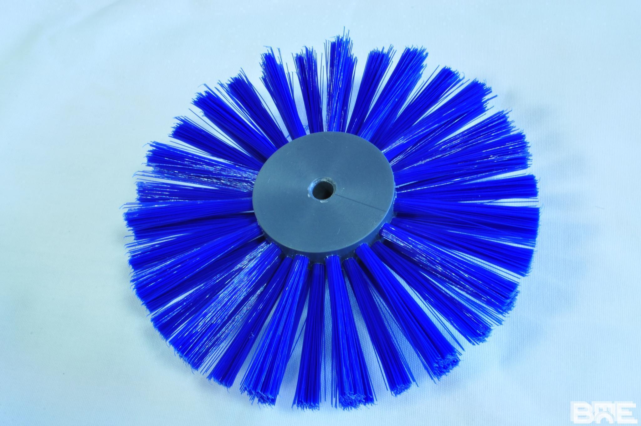 Brosse circulaire avec fibres alimentaires