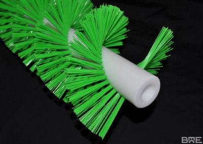Brosse hélicoïdale avec alésage