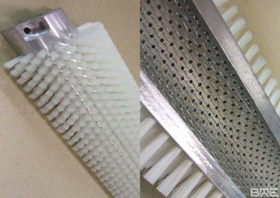Brosse rotative demi-coquille