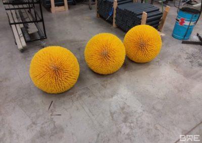 Brosses boules pour le nettoyage de canalisations